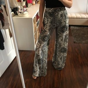 Printed Bell Bottom Flares - S | For Sienna